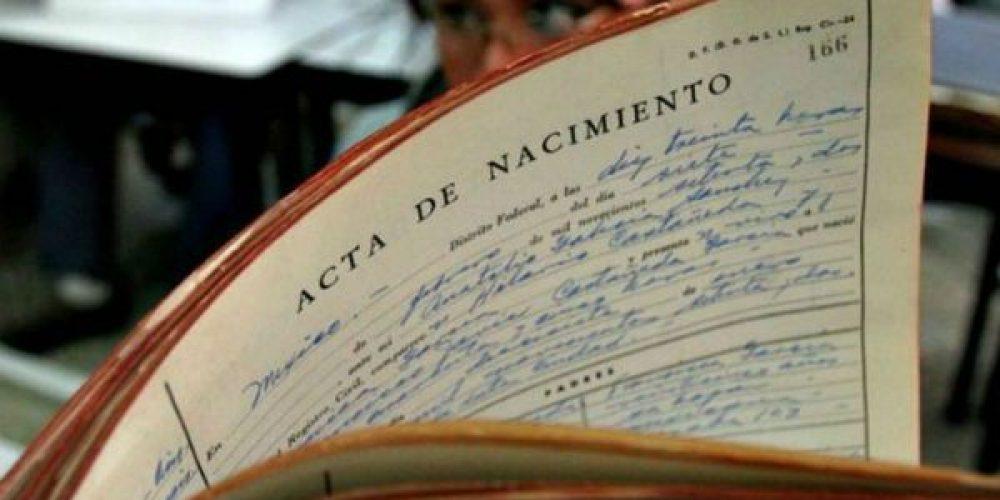 Certificado de Nacimiento en el Registro Civil de Oviedo